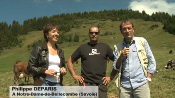 Philippe DEPARIS deTV8 MontBlanc avec Claude Vernier-Favrey et Bruno Mollier-Camut