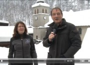 Philippe Deparis et Laurence Cluzel pour la présentation de La Giettaz à l'occasion d'une Place du Village