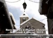 La Place du Village Flumet février 2015